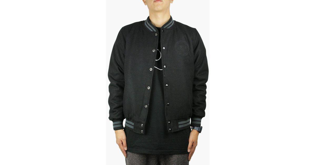 48594540da40 Stussy Stock Varsity in Black for Men - Lyst