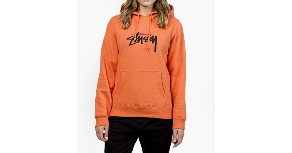 Lyst - Stussy Stock Hoodie Women s in Orange 2b748ba222