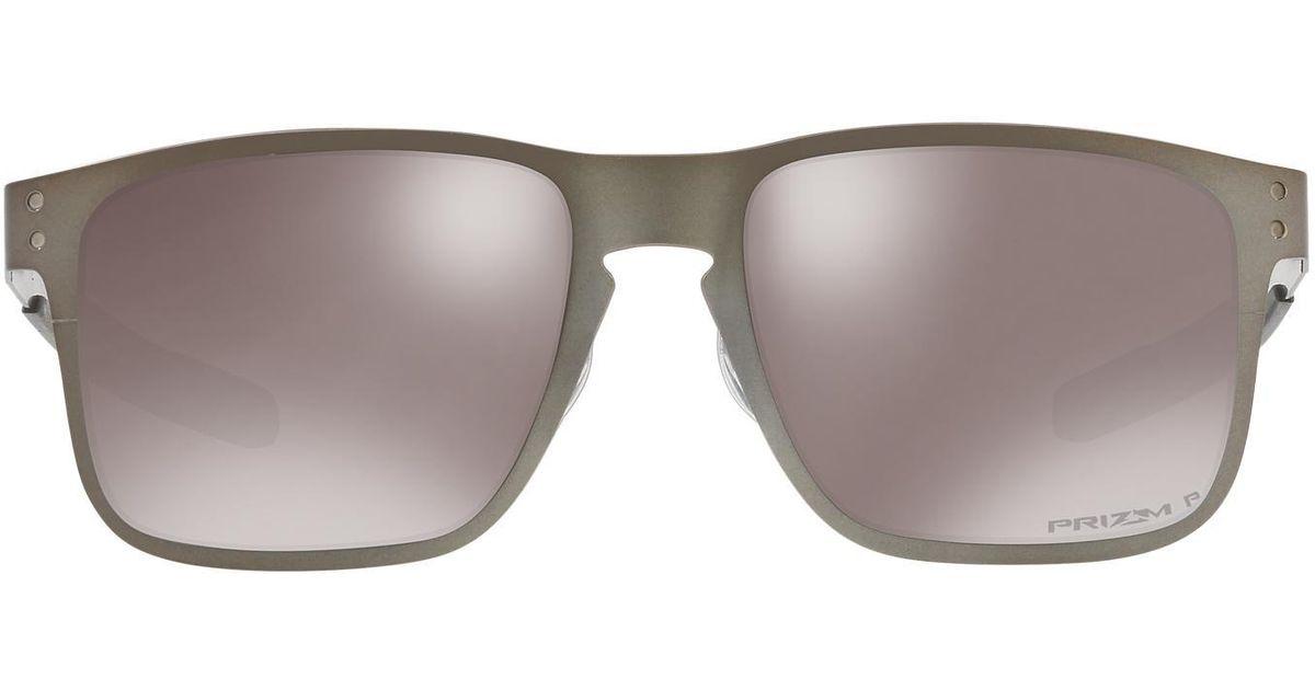 08c95519db Lyst - Oakley Oo4123 55 Holbrook Metal Prizm Black for Men