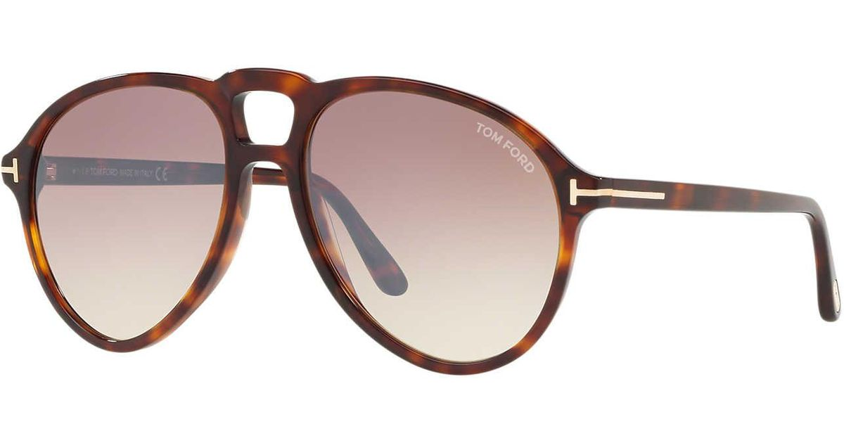 11294d554888 Tom Ford Sunglass Ft0645 57 in Brown for Men - Lyst