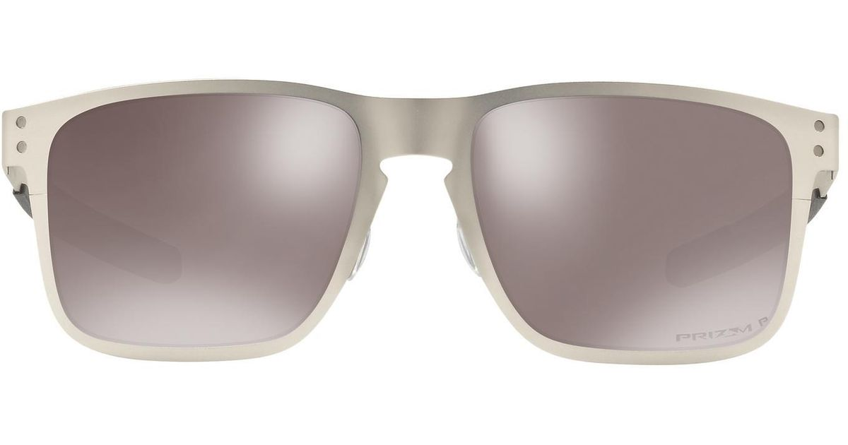 0c51e549cd Lyst - Oakley Oo4123 55 Holbrook Metal Prizm Black Only At Sunglass Hut in  Metallic for Men