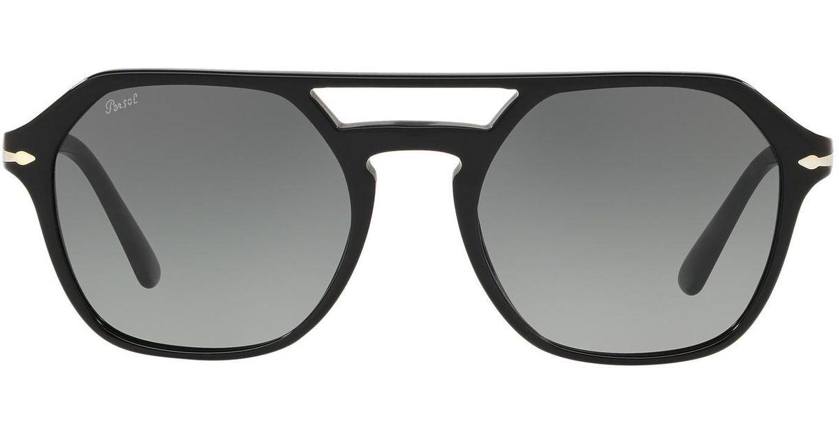 d2503e91cfbc4 Lyst - Persol 54mm Navigator Sunglasses - in Black for Men