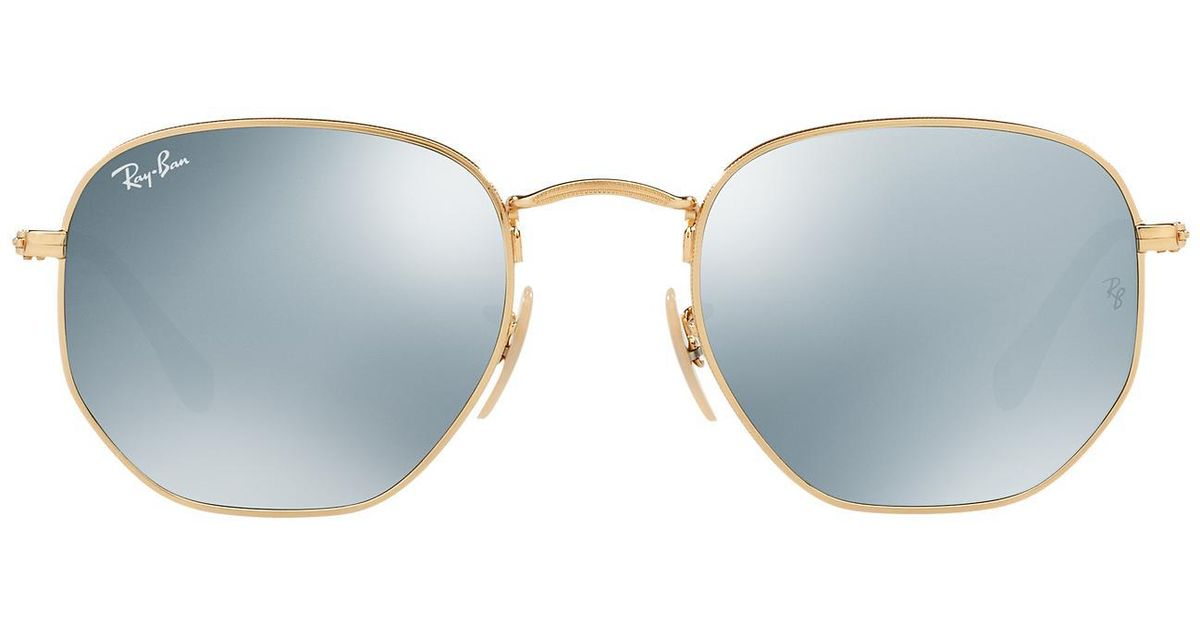 55c234bf22a4d Lyst - Ray-Ban Rb3548n 54 Hexagonal Flat Lens in Gray for Men