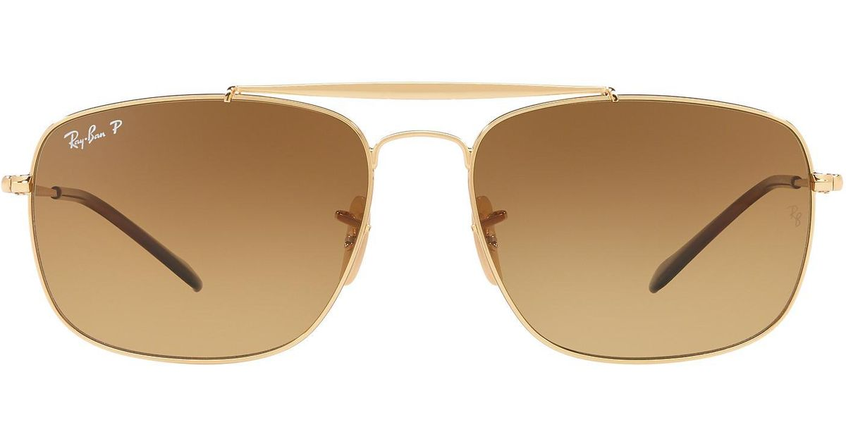 3dc6709f96 Lyst - Ray-Ban Rb3560 61 The Colonel Exclusively At Sunglass Hut in Brown  for Men