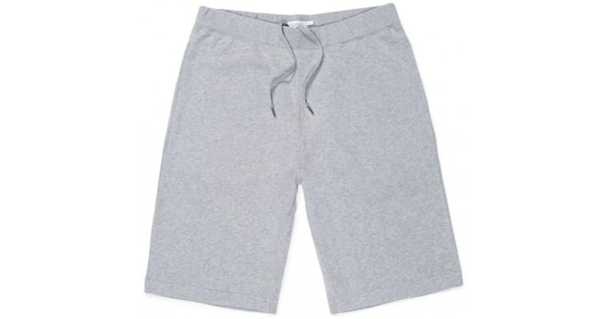 Sunspel Brushed Loopback Cotton-jersey Shorts - Gray L32NQhOC