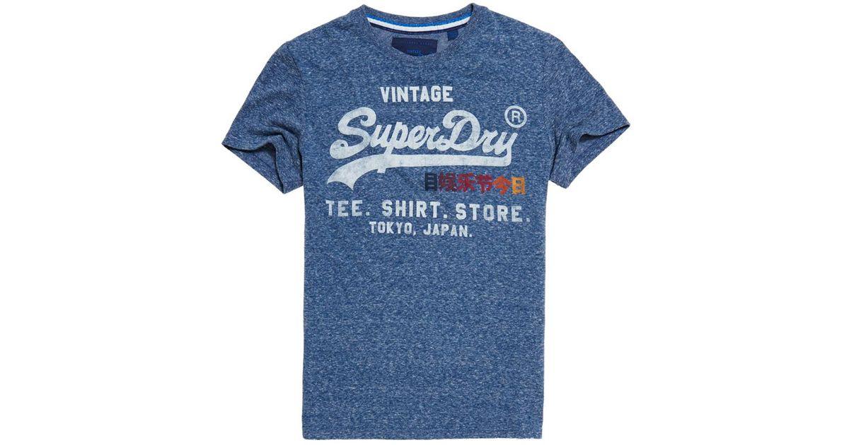 Superdry shirt shop surf t shirt in blue for men lyst for Surf shop tee shirts