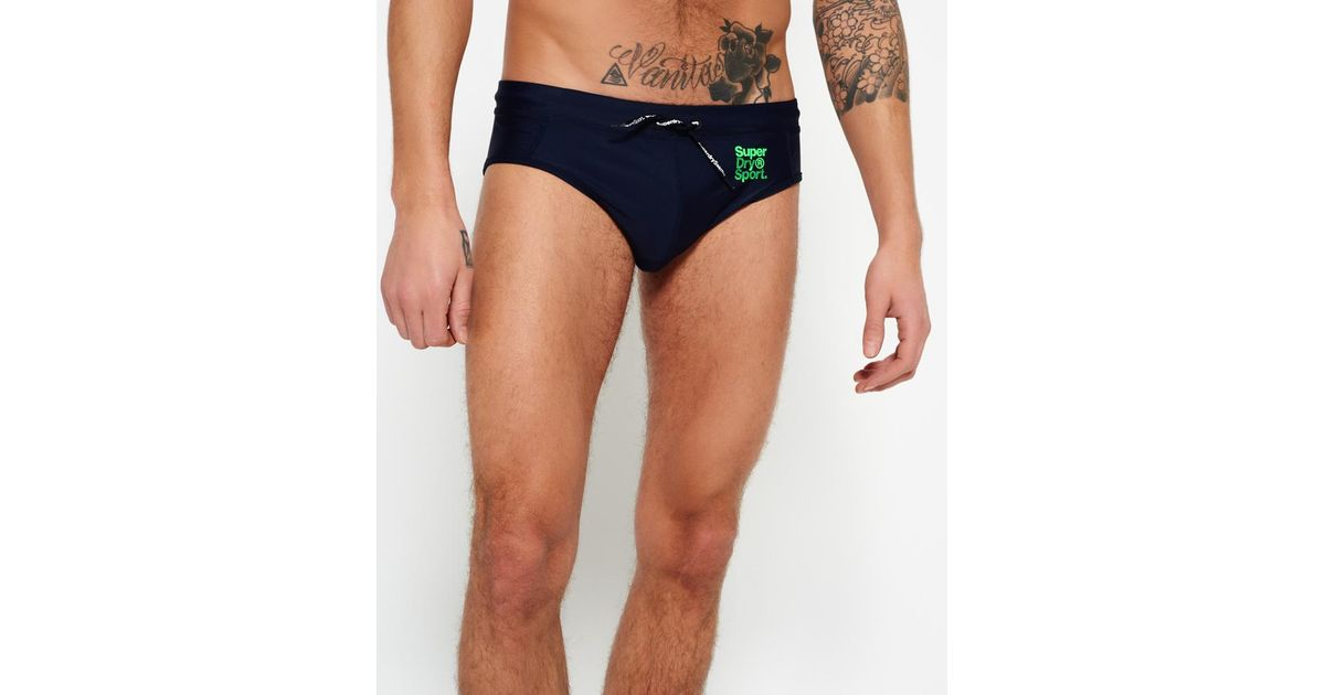 a5f4a8d95f Superdry Sport Swim Trunks in Blue for Men - Lyst