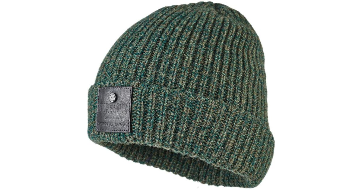 9404cac34d7 Superdry Surplus Downtown Beanie in Green for Men - Lyst
