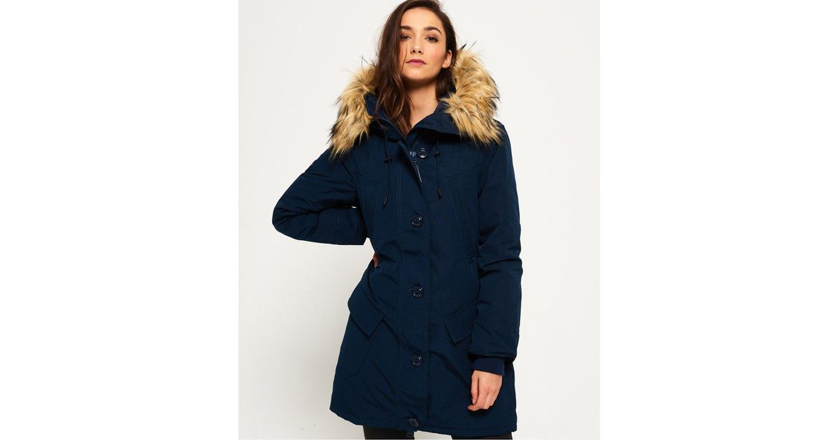 f18bb53eb07 Superdry Rookie Down Parka Jacket in Blue - Lyst