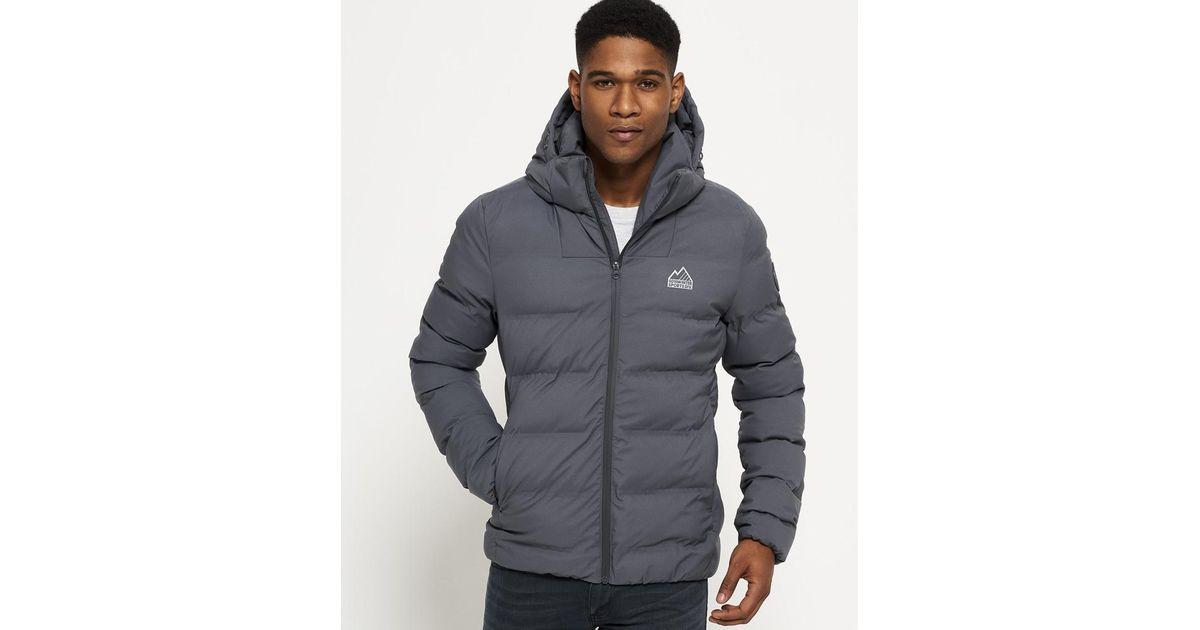 Superdry Echo Quilt Puffer Jacket in Gray for Men - Lyst dd98c24312df