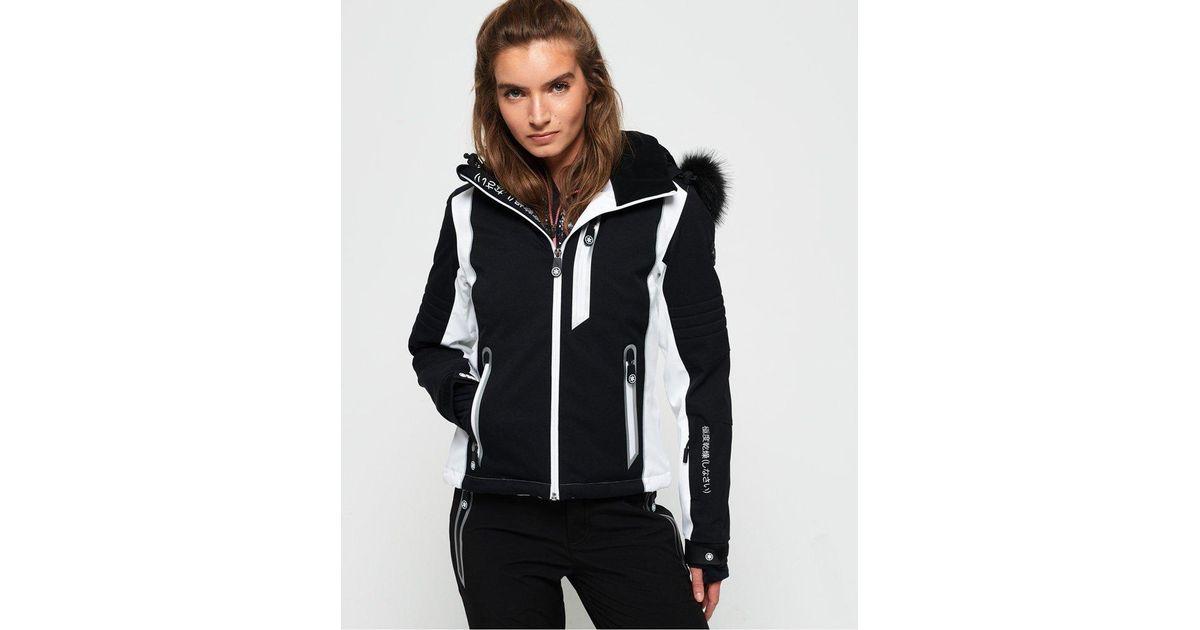 98484c83c4a Lyst - Superdry Sleek Piste Ski Jacket in Black