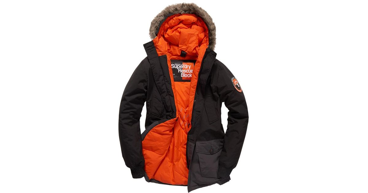 For Men Lyst Block In Everest Superdry Coat Black UwBFR