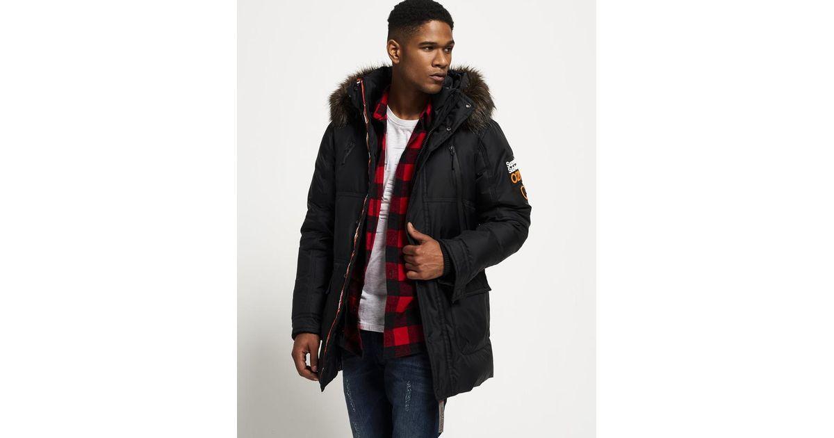 Superdry Canadian Down Ski Parka Jacket in Black for Men - Lyst 1d9a76060