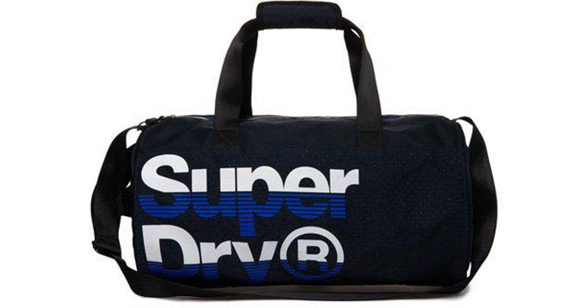 Lyst - Superdry Nue Wave Lineman Barrel Bag in Blue for Men c9eb57db1c684