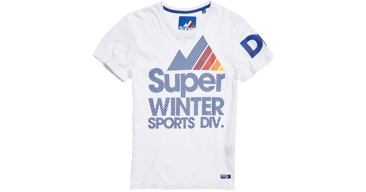 a589642af48 ... dry fit azaza net  lyst superdry winter sports t shirt in white for men  ...