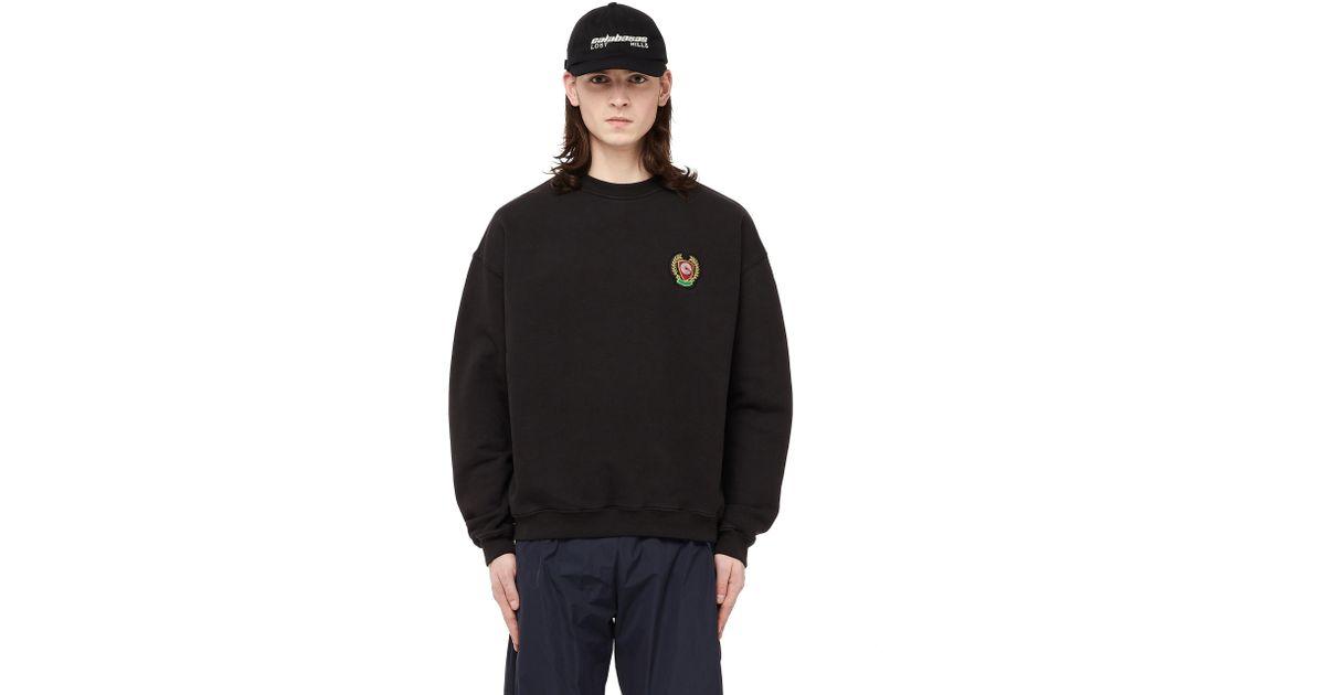 413ac42ff Lyst - Yeezy Calabasas Crew Neck Cotton Sweatshirt in Black for Men