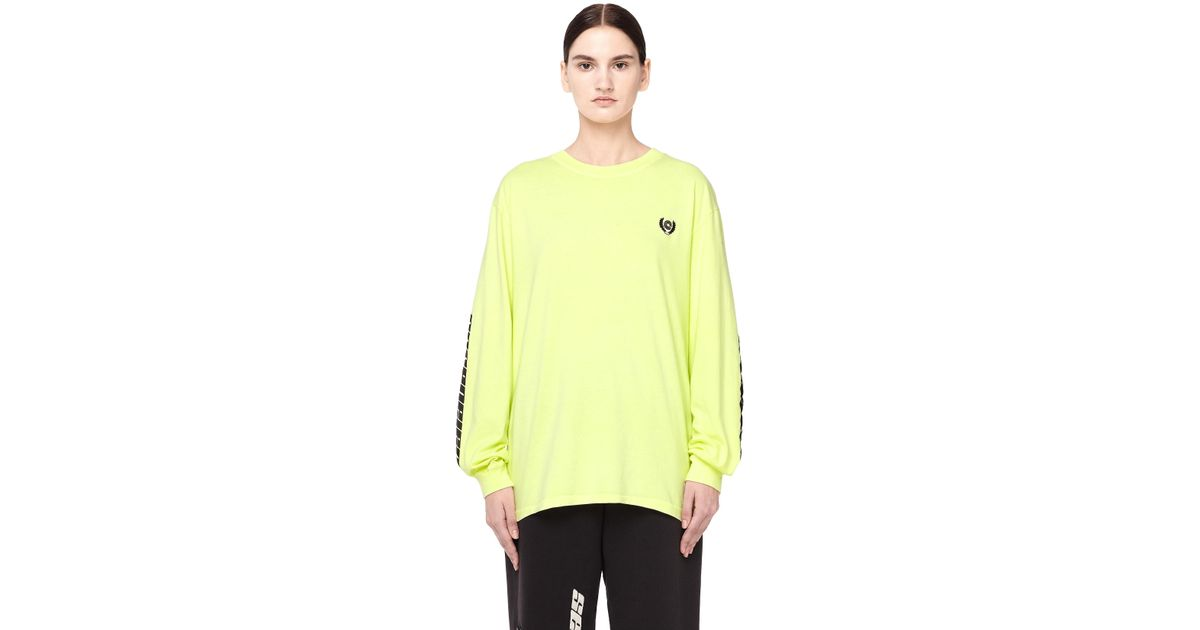 22ea8ad80 Yeezy Women's Calabasas Long Sleeve T-shirt in Yellow - Lyst