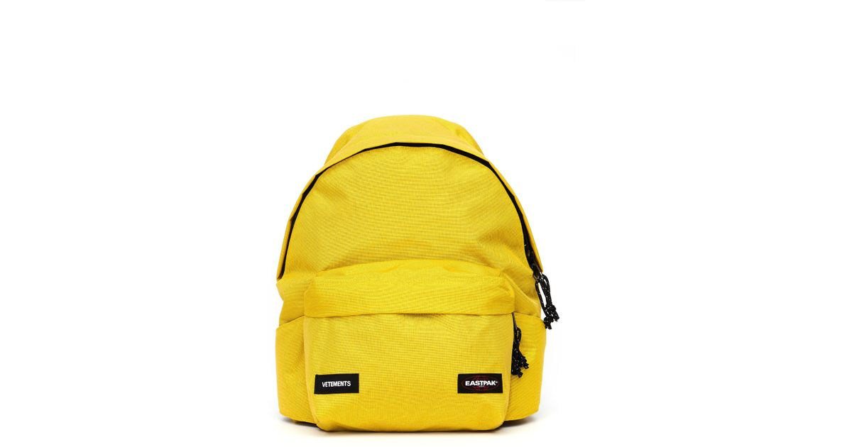 Lyst - Vetements Eastpak Backpack With A Waist Bag in Yellow