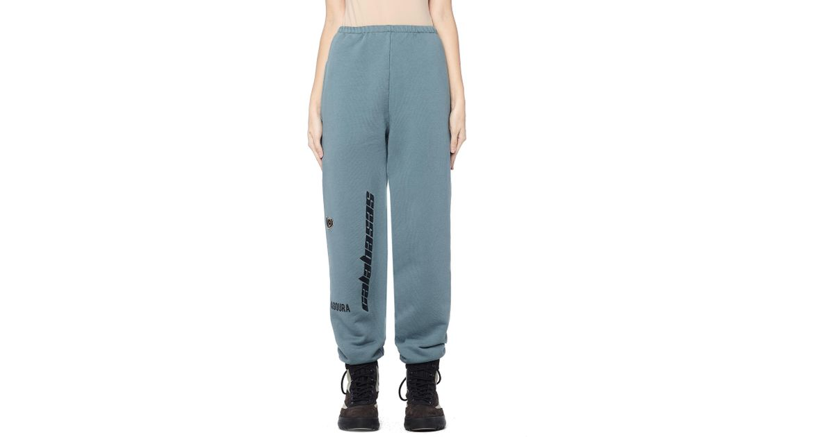 a674c4be Yeezy Calabasas Embroidered Sweatpants in Blue - Lyst
