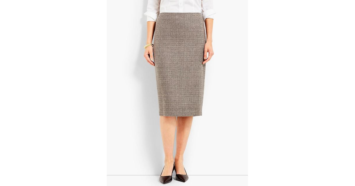 811b6f9e04 Lyst - Talbots Luxe Tweed Pencil Skirt in Gray