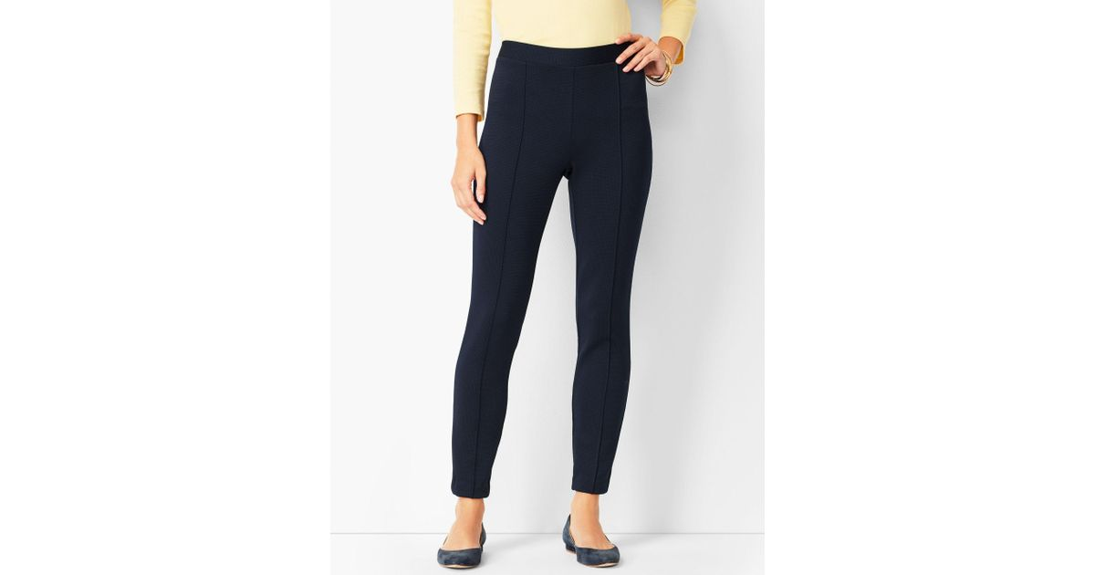 29880b831c43d8 Lyst - Talbots Honeycomb Pull-on Leggings in Blue