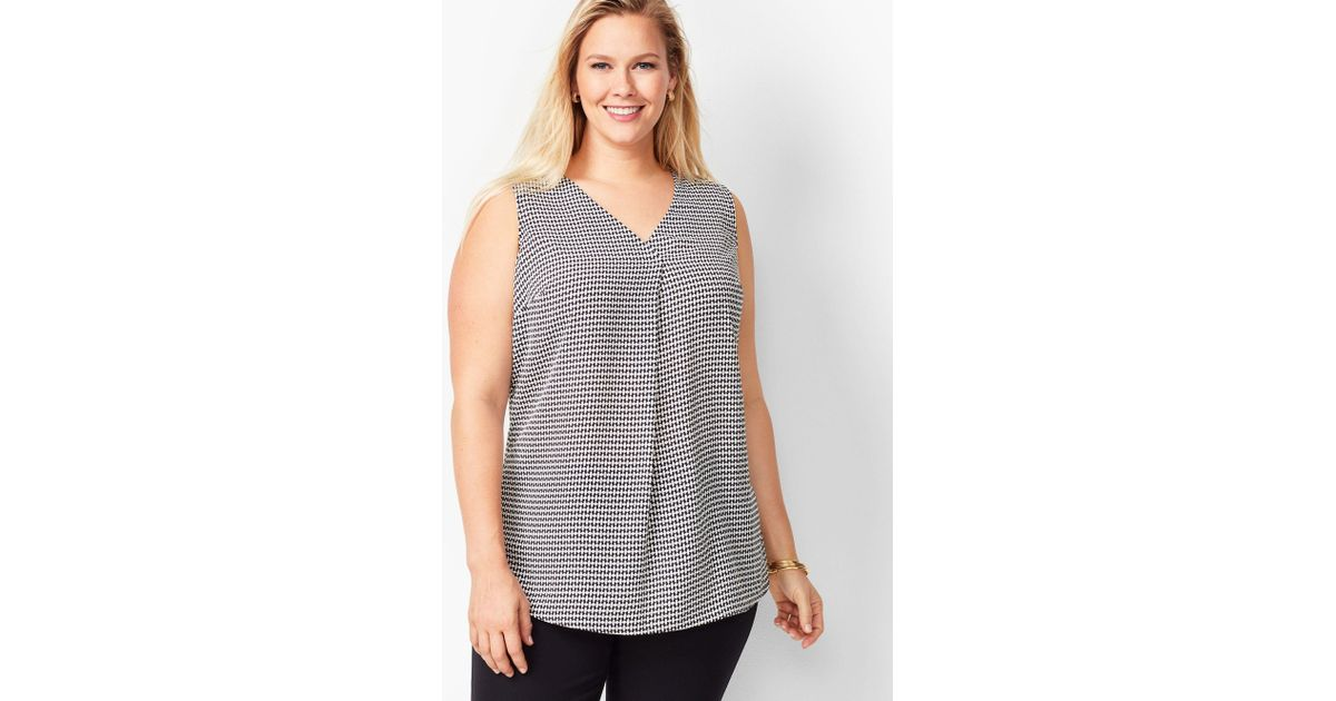 3ca7f276e670b8 Lyst - Talbots Plus Size Exclusive Front Pleat Top in Black