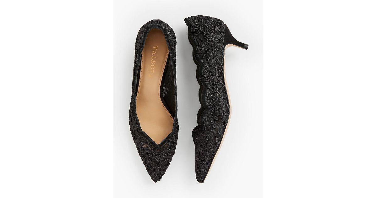 3784d413db9f Lyst - Talbots Sylvie Kitten Heel Pumps in Black - Save 63%