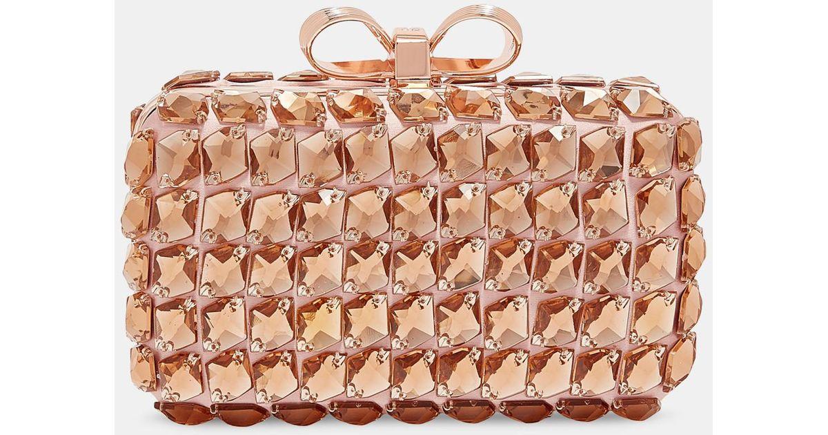 c80fd331a40db Ted Baker Embellished Frame Evening Bag in Pink - Lyst
