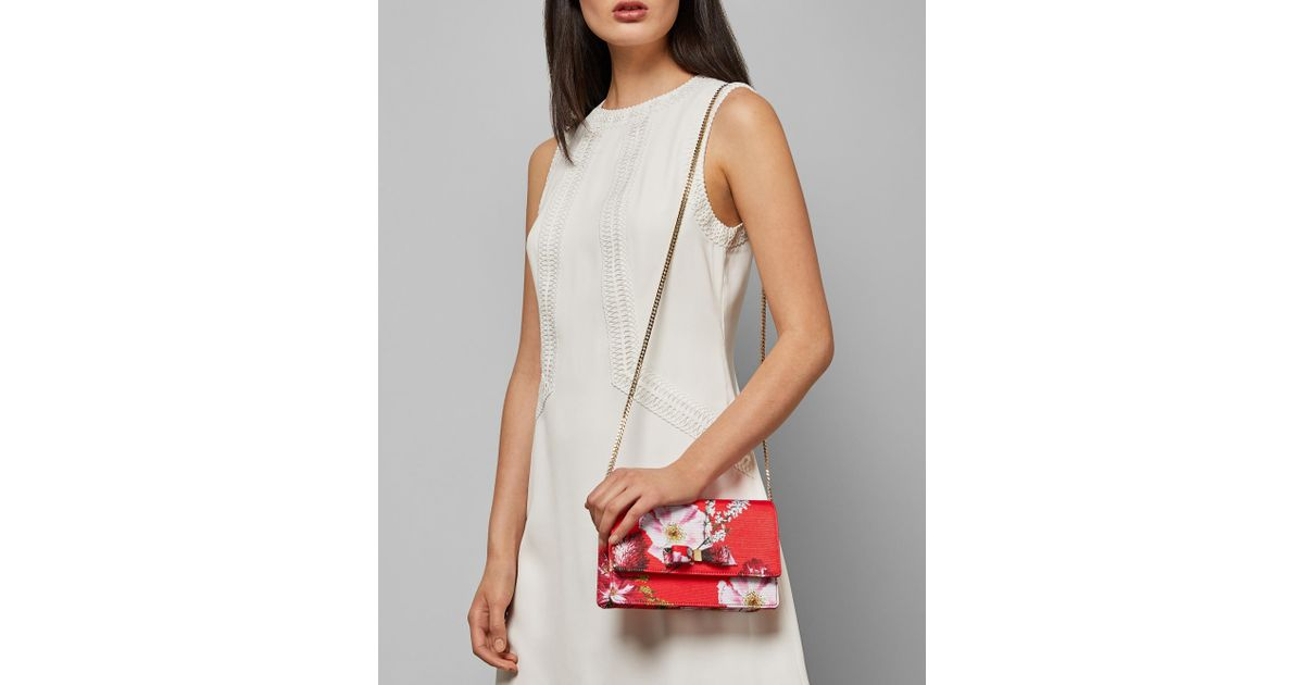 ee622813c Ted Baker Berry Sundae Bow Evening Bag in Red - Save 30% - Lyst