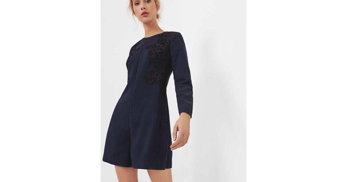 c08cb9780 Ted Baker Embroidered Playsuit in Blue - Lyst