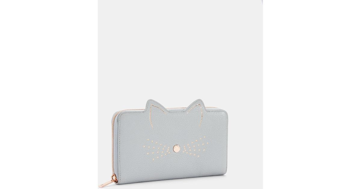3ef7fdd5de0b14 Ted Baker Cat Whiskers Leather Matinee Purse in Gray - Lyst