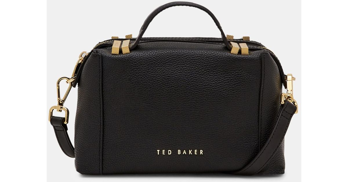 Ted Baker Pop Handle Small Tote Bag in Black - Lyst d5645f8bd37d7