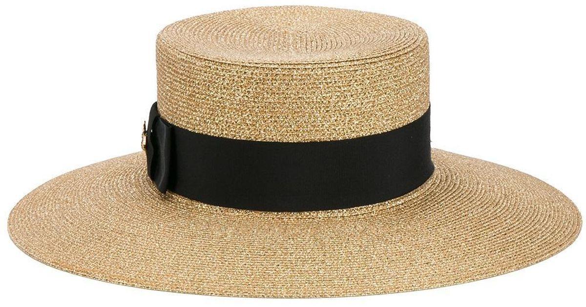 97600d8f34a Lyst - Gucci Lurex Papier Hat