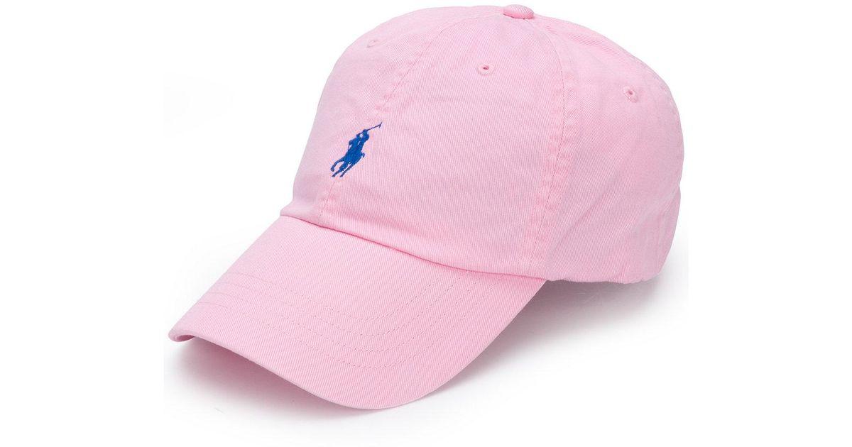 3f7b47c21 Polo Ralph Lauren Cotton Baseball Hat in Pink for Men - Lyst