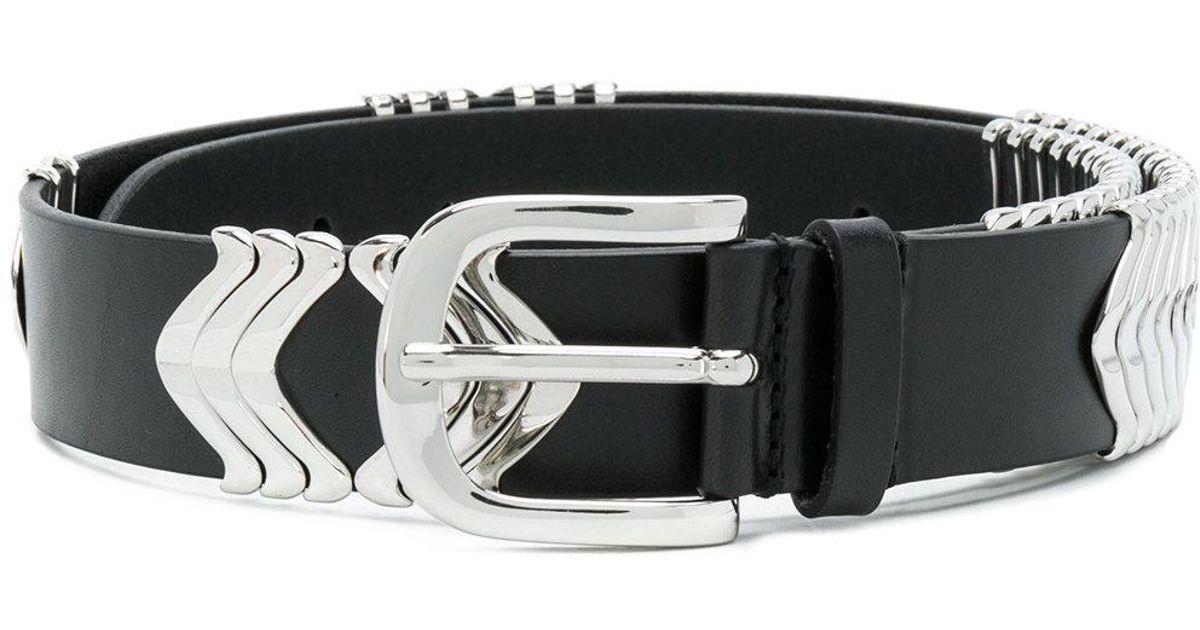 56a833f7ac28 Étoile Isabel Marant Tehora Leather Belt in Black - Lyst