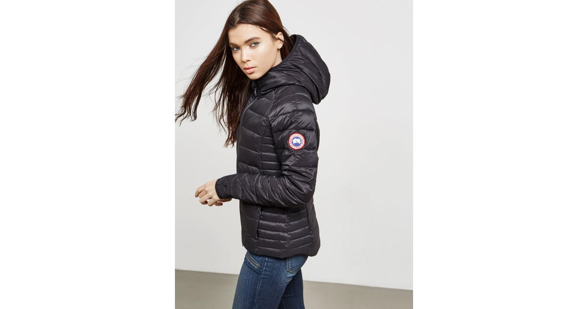 Lyst - Canada Goose Womens Brookvale Padded Hooded Jacket Graphite in Gray - Save 9.612403100775197%