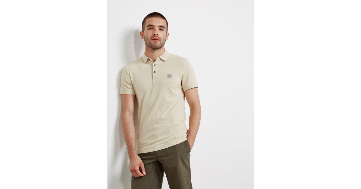 a31ff316 Lyst - BOSS Boss Passenger Short Sleeve Polo Shirt in Natural for Men