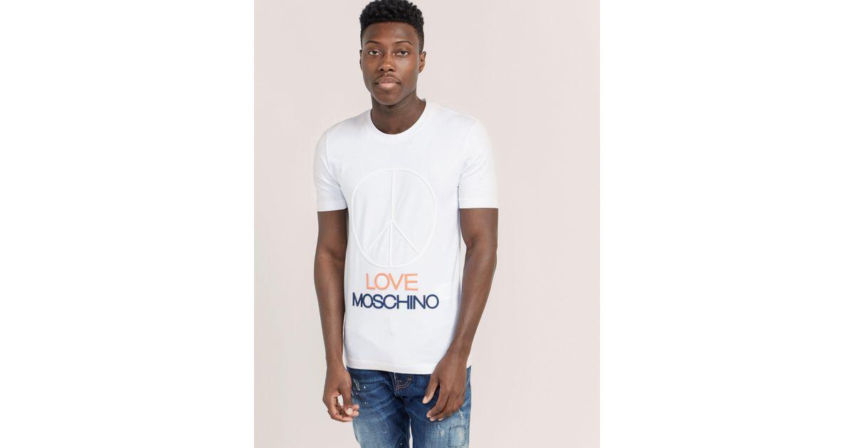 Love Moschino logo short-sleeve T-shirt Brand New Unisex gX4hrLMO3