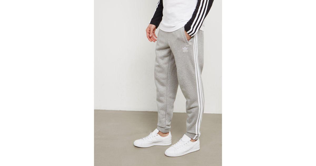 845f13041 Lyst - adidas Originals Mens Trefoil Fleece Track Pants Grey in Gray for Men