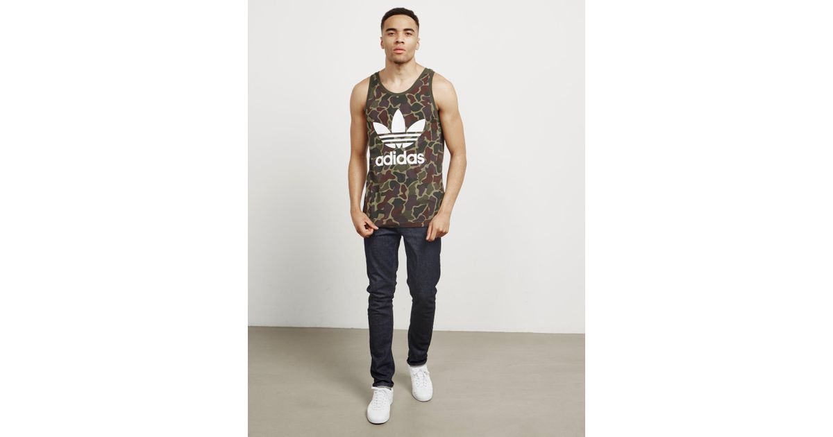 Adidas Originals Green Mens Camo Vest Olive for Men Lyst
