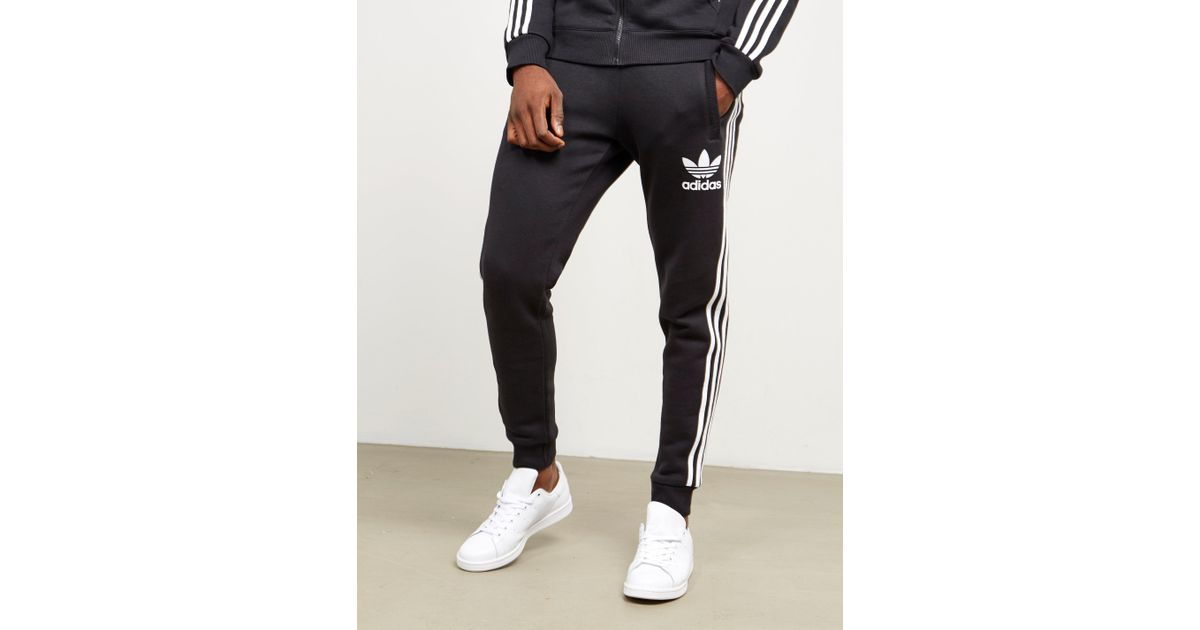size 40 d00d2 0fa3c adidas Originals Mens California Cuffed Track Pants Black white in Black  for Men - Lyst