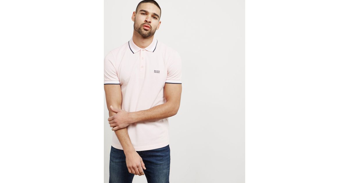 4725d840dd32 BOSS Mens Paddy Short Sleeve Polo Shirt Light Pink/pink in Pink for Men -  Lyst