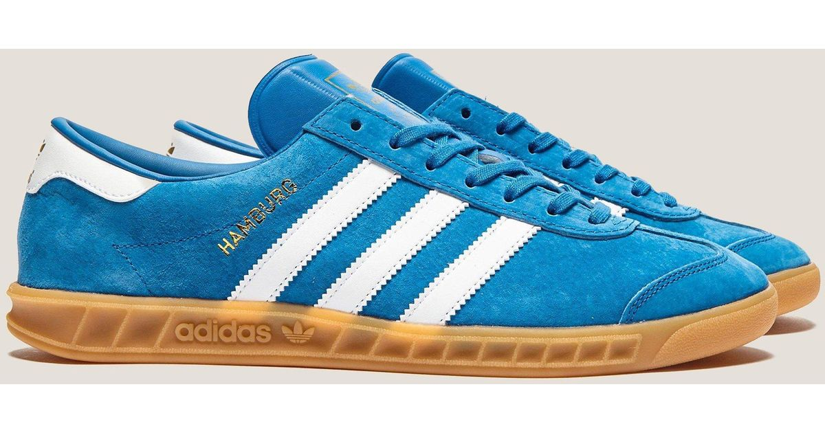 cheap for discount e3d99 7d80e Lyst - adidas Originals Mens Hamburg Bluebirdwhitegum, Bluebirdwhitegum  in Blue for Men