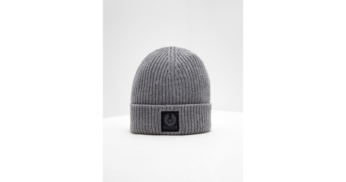 Lyst - Belstaff Mens Patch Beanie Grey in Gray for Men 5b56616dda76