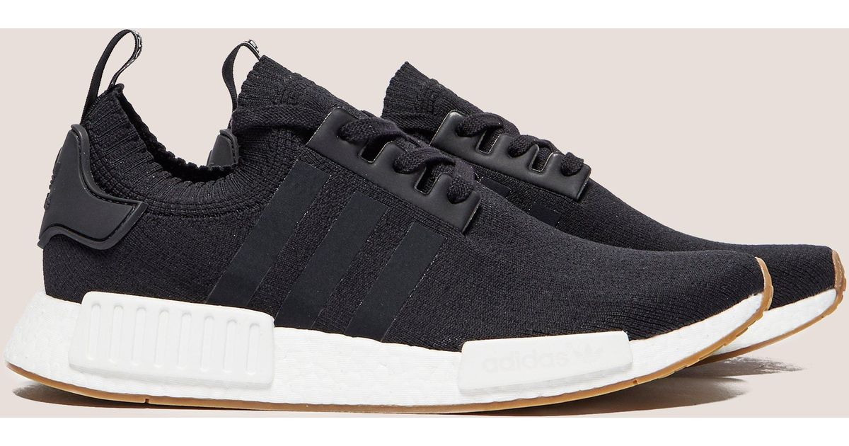 95eb2ce79b2cdf ... Lyst - Adidas Originals Mens Nmd r1 Primeknit Black white