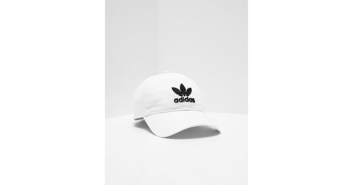 3596d12f ... shopping lyst adidas originals mens trefoil cap white in white for men  1d1b9 b411c