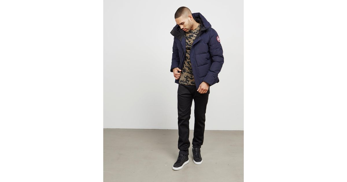 dfced0bcab49 Lyst - Canada Goose Macmillan Padded Parka Jacket Blue in Blue for Men -  Save 1%