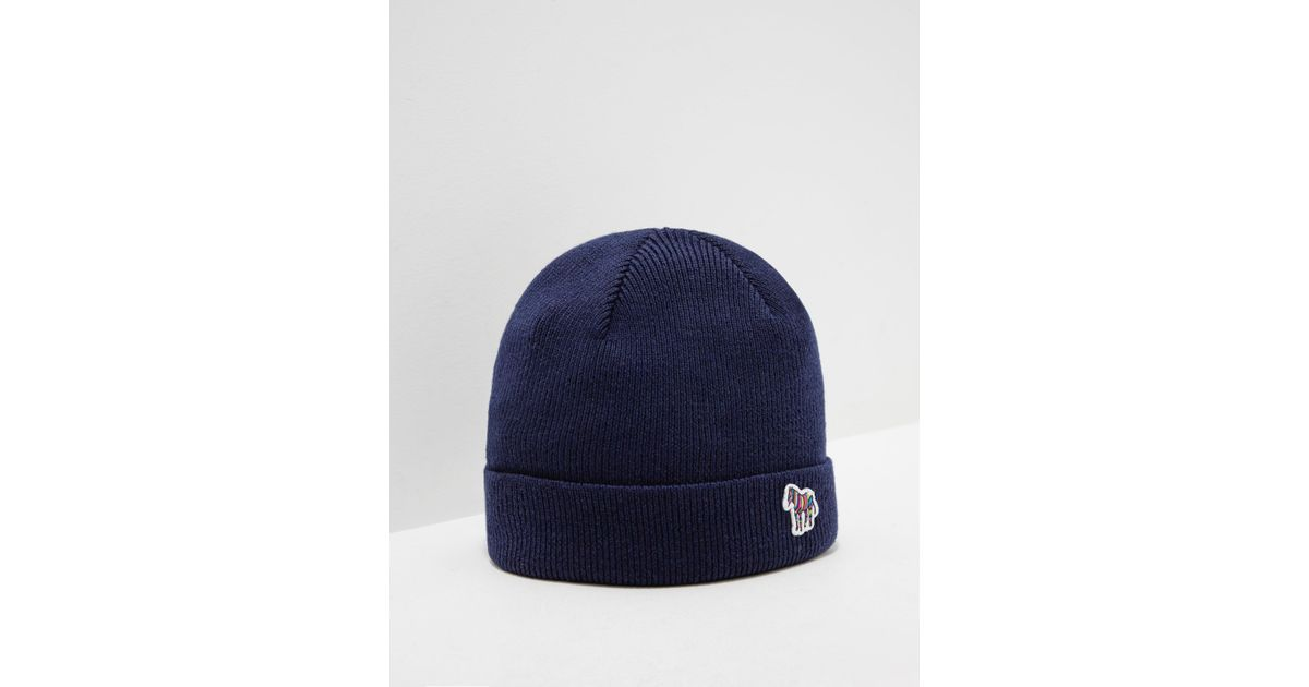 bf0e3fd1eda Lyst - PS by Paul Smith Mens Zebra Beanie Navy Blue in Blue for Men - Save  6.410256410256409%