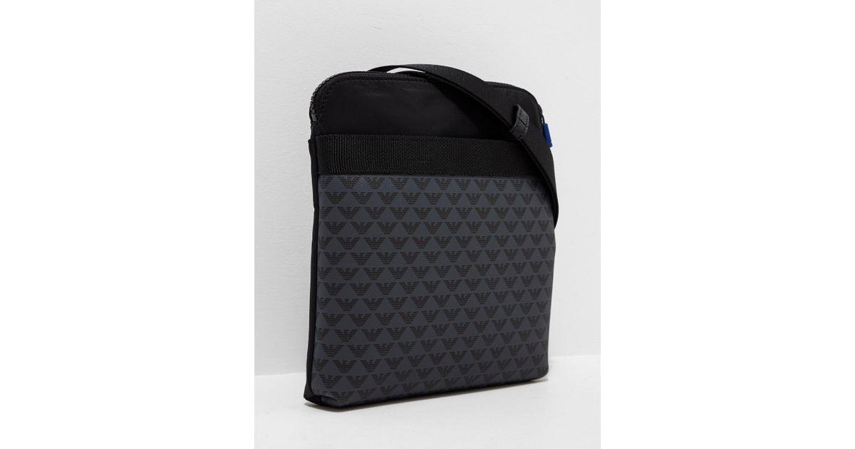 Lyst - Emporio Armani Mens All Over Eagle Small Item Bag Black in Black for  Men 3697d70801