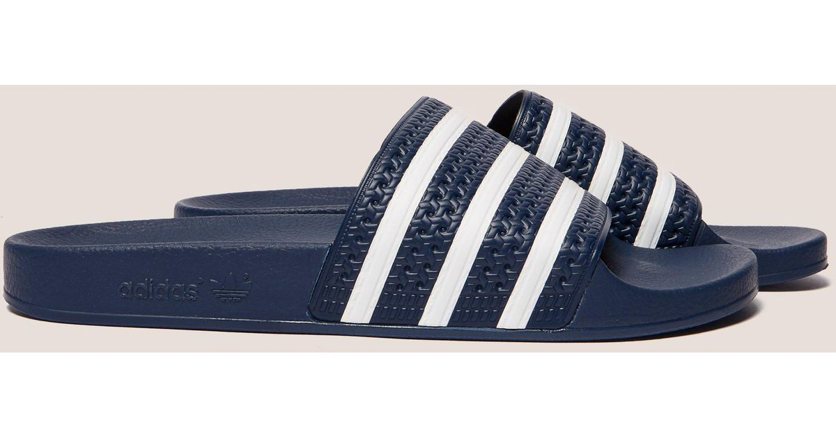 245b9c92e241f6 Lyst - adidas Originals Mens Adilette Slides Navy white